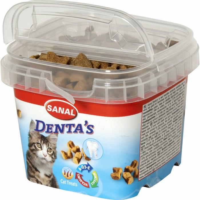 Санал Хрустящие Крокеты Dentas для ухода за полостью рта кошек, 75 г, Sanal
