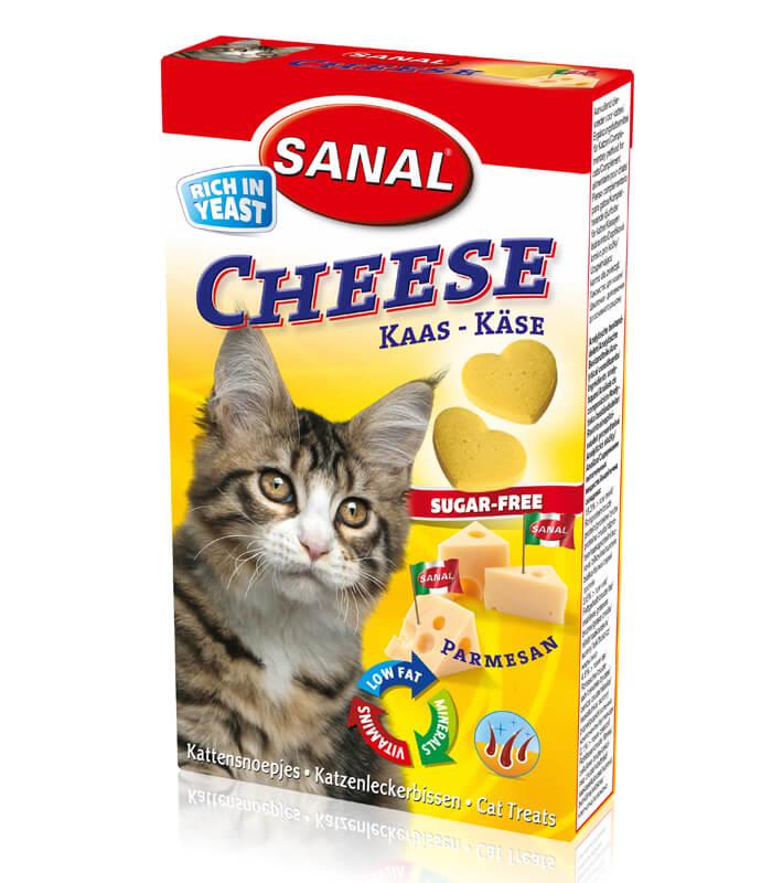 Санал Лакомство Cheese для кошек, 30 г, Сыр, Sanal