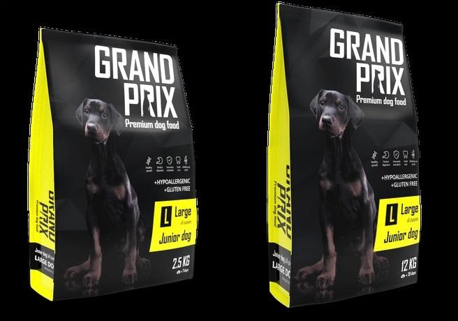 Гранд Прикс Корм сухой Large Junior для щенков крупных пород, Курица, в ассортименте, Grand Prix