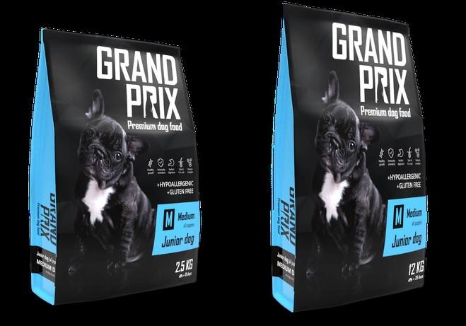 Гранд Прикс Корм сухой Medium Junior для щенков средних пород, Курица, в ассортименте, Grand Prix