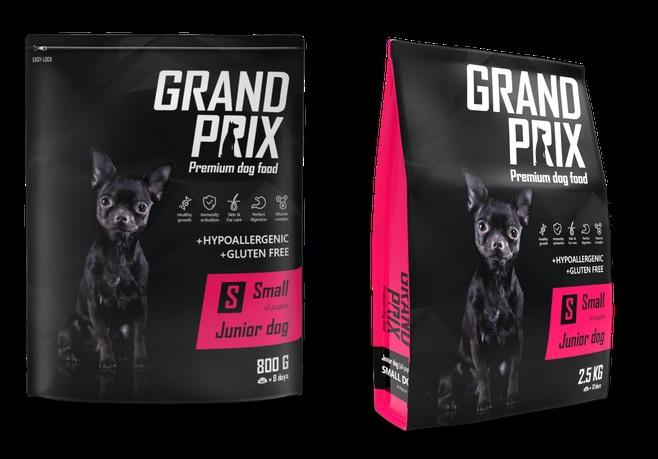 Гранд Прикс Корм сухой Small Junior для щенков мелких пород, Курица, в ассортименте, Grand Prix