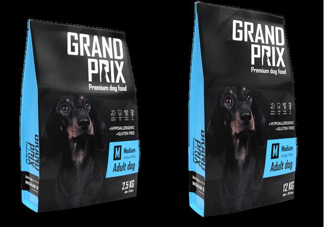 Гранд Прикс Корм сухой Medium Adult для собак средних пород, Курица, в ассортименте, Grand Prix