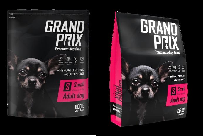 Гранд Прикс Корм сухой Small Adult для собак мелких пород, Курица, в ассортименте, Grand Prix