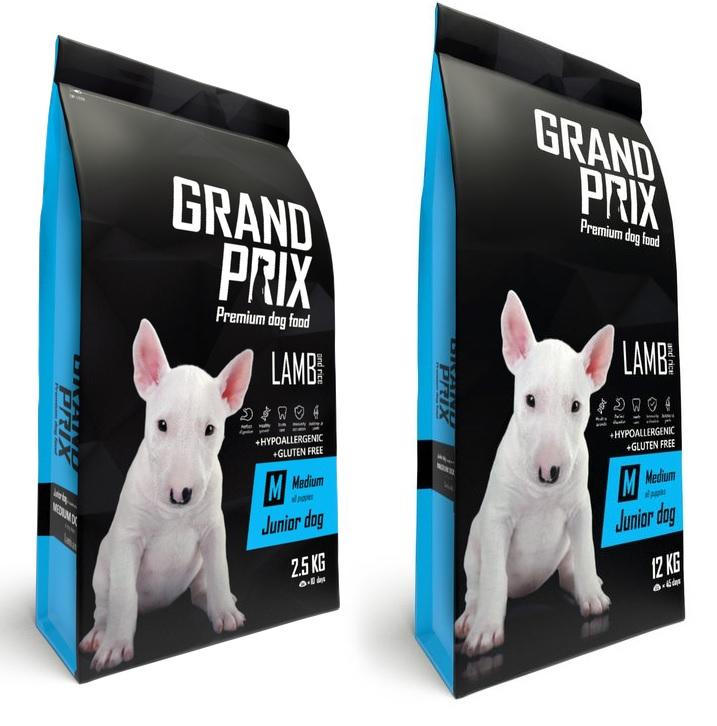 Гранд Прикс Корм сухой Medium Junior для щенков средних пород, Ягненок/Рис, в ассортименте, Grand Prix