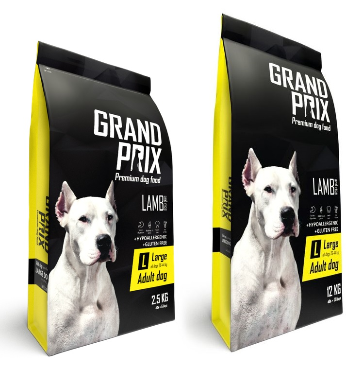 Гранд Прикс Корм сухой Large Adult для собак крупных пород, Ягненок/Рис, в ассортименте, Grand Prix