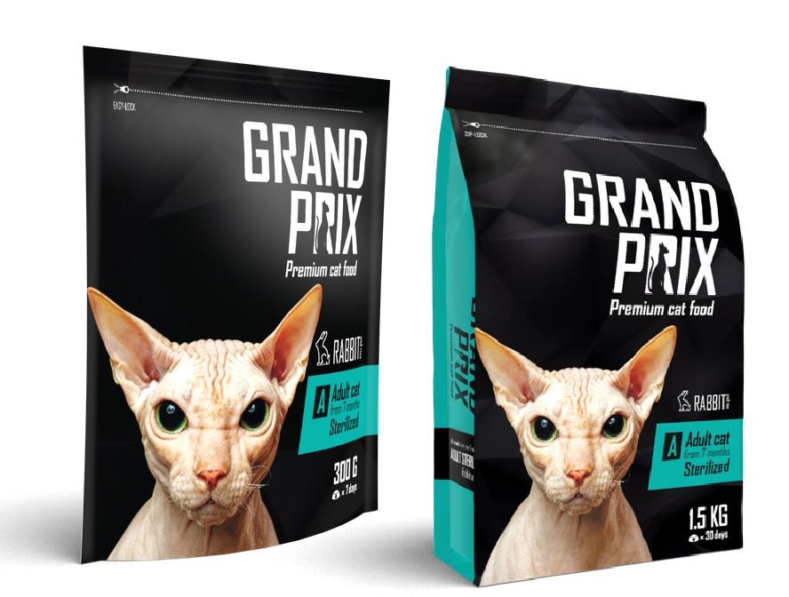 Гранд Прикс Корм сухой Sterilized для кастрированных/стерилизованных кошек, Кролик/Рис, в ассортименте, Grand Prix