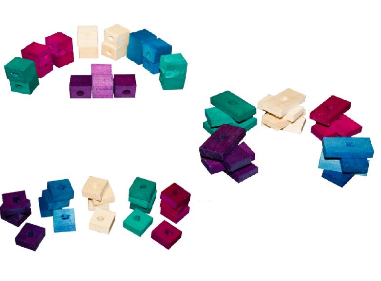 ПарротсЛаб Набор из деревянных фигур для составления игрушек, в ассортименте, 20 шт/уп., Parrotslab