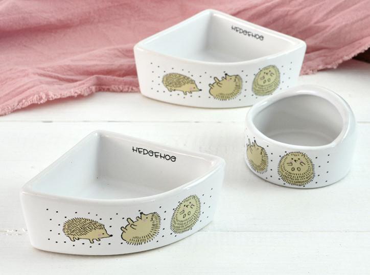 Миска керамическая для мелких животных Ежики, в ассортименте, Dr. Thorn