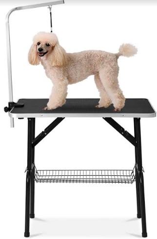 Доглэнд Грумерский стол складной 1102 с Г-образным держателем, петлей и корзиной, 90*60*76 см, цвета в ассортименте, Dog Land