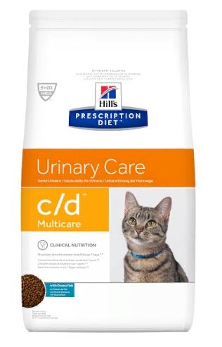 Хиллс Корм сухой Prescription Diet c/d Urinary Multicare для кошек при заболеваниях нижних отделов мочевыводящих путей, Рыба, 1,5 кг, Hills