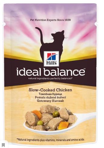 Хиллс Паучи Ideal Balance для взрослых кошек, в ассортименте, 12*85 г, Hills