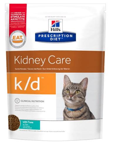 Хиллс Корм сухой Prescription Diet k/d для кошек, Лечение заболеваний почек и сердца, профилактика МКБ, Тунец, в ассортименте, Hills
