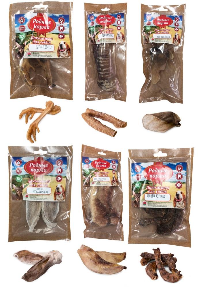 Родные Корма Лакомство сушеное в дровяной печи для собак, в ассортименте