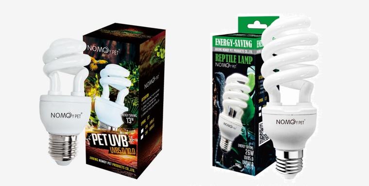 НомоиПет Лампа с УФ UV 5.0 Compact Reptile для обитателей джунглей, в ассортименте, NomoyPet