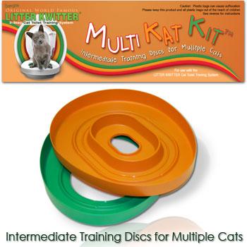 Фидекс Комплект дополнительных промежуточных вставок Multi-Kat-Kit для Системы приучения к туалету Litter Kwitter, Feed-Ex