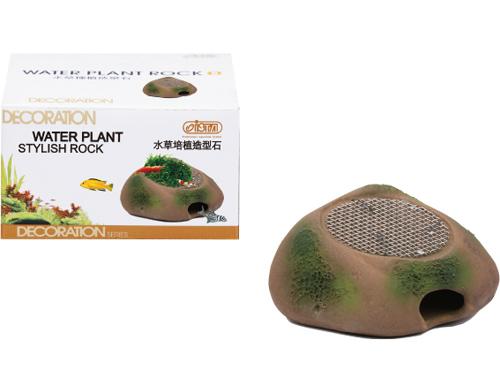 Иста Камень-укрытие для мелких рыб и керамическая площадка с сеткой из нержавеющей стали для культивации растений, 11*9*6,5 см, Ista