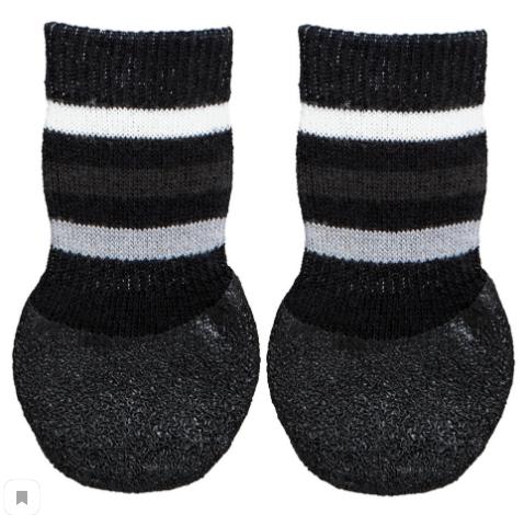 Трикси Носки для собак нескользящие, черные, в ассортименте, 2 шт/уп., хлопок/лайкра, Trixie