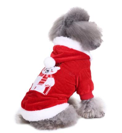 Рождественская попона Мишка для собак и кошек, в ассортименте, полиэстер