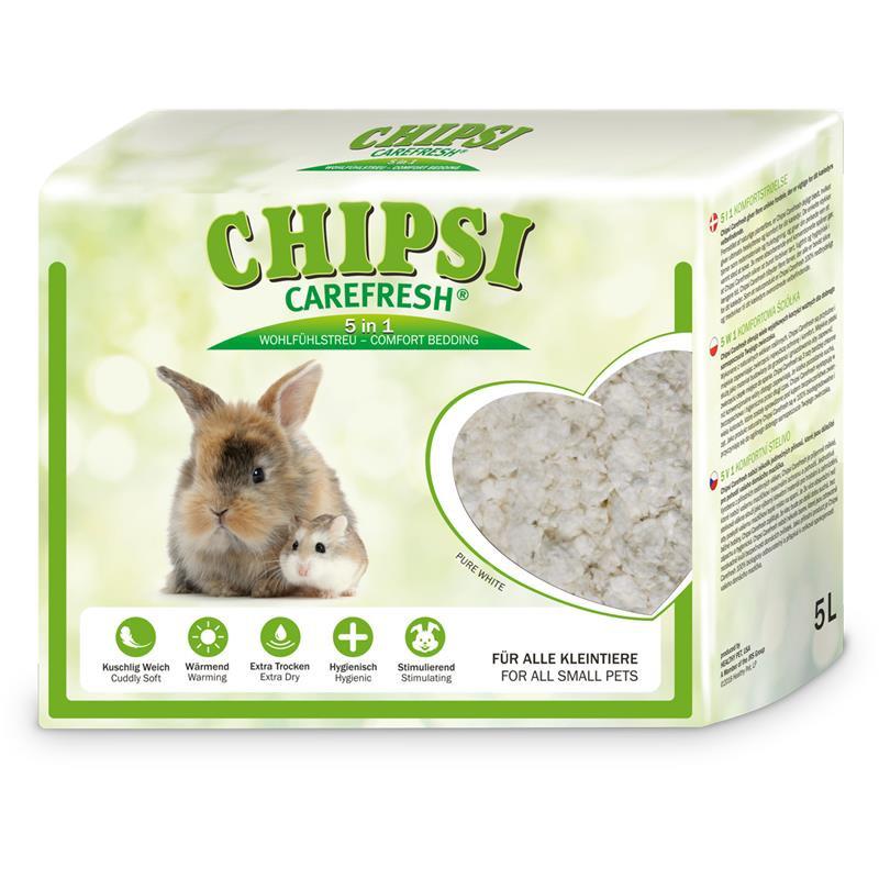 NEW Карефреш Наполнитель бумажный белый Pure White Chipsi для мелких животных, рептилий и птиц, в ассортименте, Carefresh