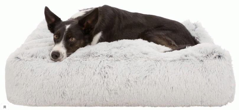 Трикси Лежак Harvey для собак, бело/черный плюш, в ассортименте, Trixie