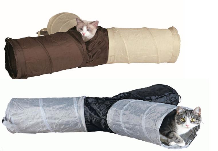 Трикси Туннель для кошек и котят, шуршащий, длина каждого рукава 50 см, диаметр 22 см, в ассортименте, Trixie