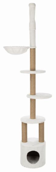 Трикси Комплекс для кошек Aurelio с упором в потолок, диаметр основания 38 см, высота 220-250 см, белый, Trixie