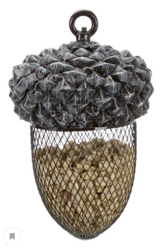 Трикси Кормушка Желудь для птиц и грызунов уличная, 700 мл, 14*22 см, полиэфирная смола/металл, Trixie