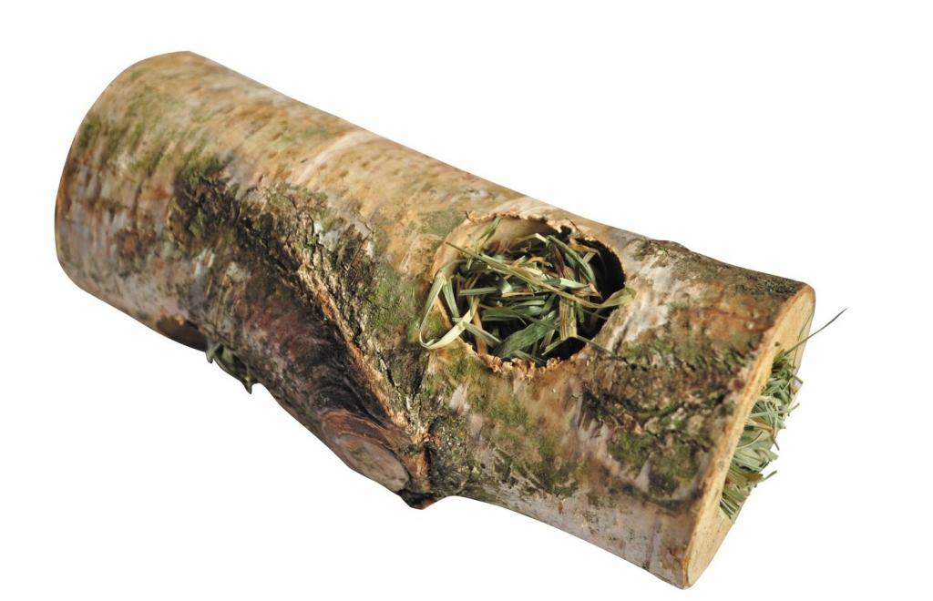 ЛолоПетс Туннель из березового полена с луговым сеном, в ассортименте, Lolo Pets