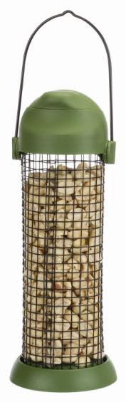 Трикси Кормушка-дозатор орехов для белок и крупных птиц, 500 мл, 22 см, Trixie