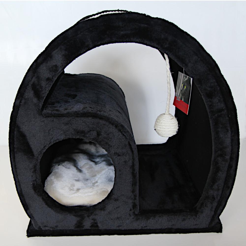 ПетЧойс Когтеточка овальная PS249-2 с домиком, 50*40*50 см, вес 10 кг, Pet Choice