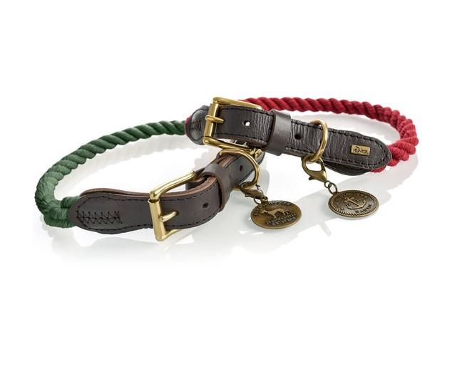Хантер Ошейник для собак List 70 текстиль/кожа, в ассортименте, обхват шеи 57-65 см, Hunter