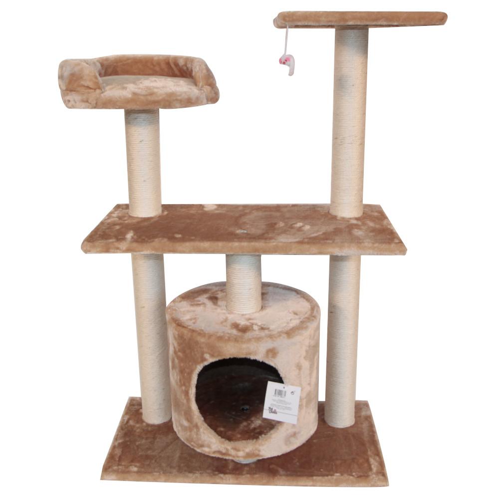 ПетЧойс Комплекс SBE991 трехуровневый с игрушкой, 60*30*96 см, вес 12 кг, Pet Choice