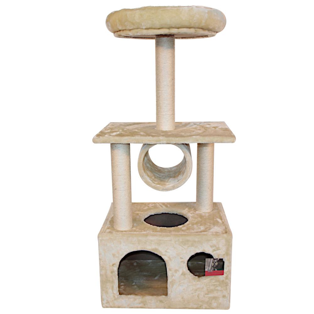 ПетЧойс Комплекс SBE1418 для кошек с домиком 50*35*116 см, вес 9,5 кг, бежевый, Pet Choice