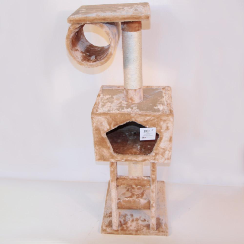 ПетЧойс Комплекс SBE896 с домиком и лестницей, 40*35*109 см, вес 9 кг, бежевый, Pet Choice