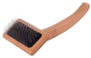 Ив Сен Бернард Сликер (пуходерка) Bamboo slicker brush с бамбуковой ручкой, для кошек и собак, в ассортименте, Iv San Bernard