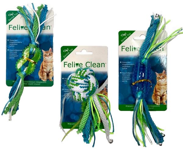 Фелин Клин Игрушка для кошек Dental, с лентами, в ассортименте, Feline Clean