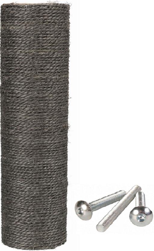 Трикси Запасной столбик-когтеточка для комплексов, диаметр 9 см, в ассортименте, ДЖУТ, серый, Trixie