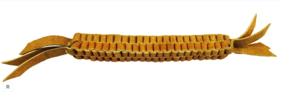 Анкур Игрушка Buffalo Плетенка для собак, 28*2,5 см, кожа буйвола, Ankur