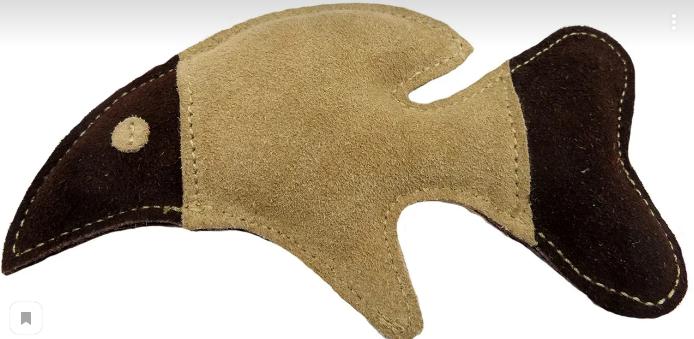 Анкур Игрушка Buffalo Рыбка для собак, 18*10 см, кожа буйвола, Ankur