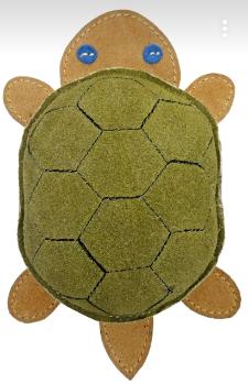 Анкур Игрушка Buffalo Черепаха для собак, 21*12 см, кожа буйвола, Ankur