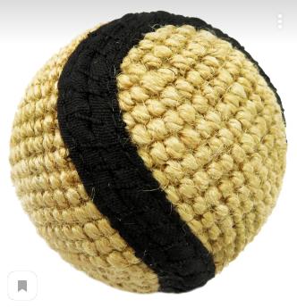 Анкур Игрушка Buffalo Мяч для собак, 6 см, джут, Ankur