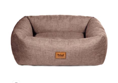 Триол Лежанка-софа Аризона коричневая прямоугольная для кошек и собак, в ассортименте, Triol