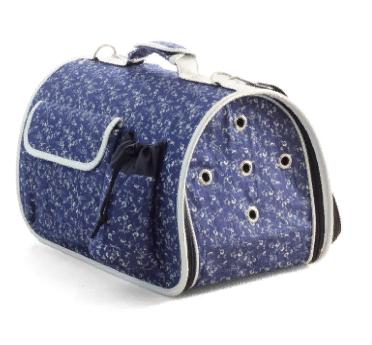 Триол Сумка-переноска Стефани для собак и кошек, 43,5*27*25 см, синяя, Triol