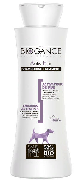 Биоганс Натуральный BIO-шампунь для активации роста шерсти Biogance Activ'Hair для собак и кошек, 250 мл, Biogance