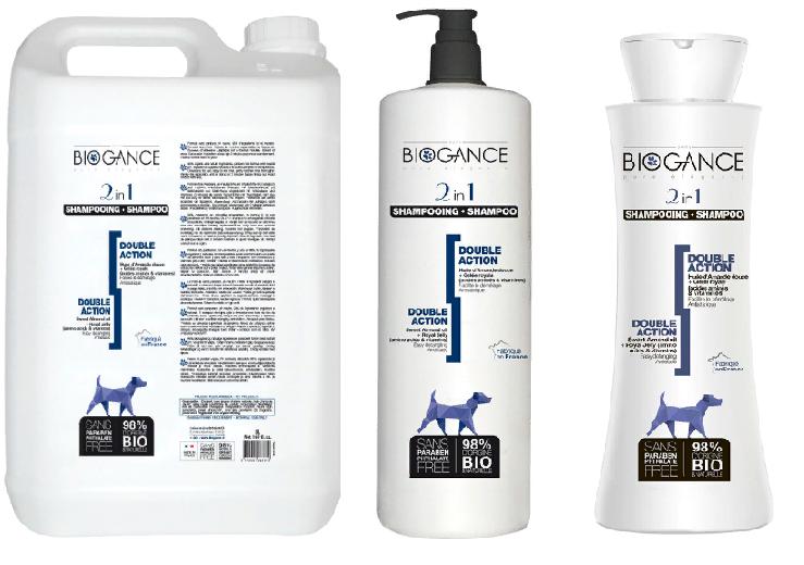 Биоганс Натуральный BIO-шампунь 2в1 (шампунь + кондиционер с эффектом антистатика) для собак и кошек, в ассортименте, Biogance