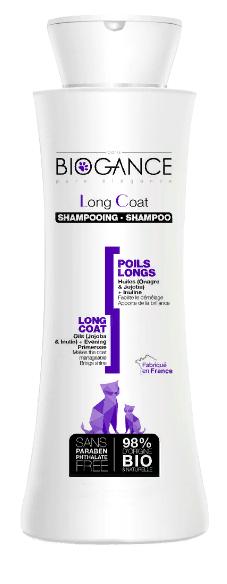 Биоганс Натуральный био-шампунь Biogance Long Coat для длинношерстных кошек, 150 мл, Biogance