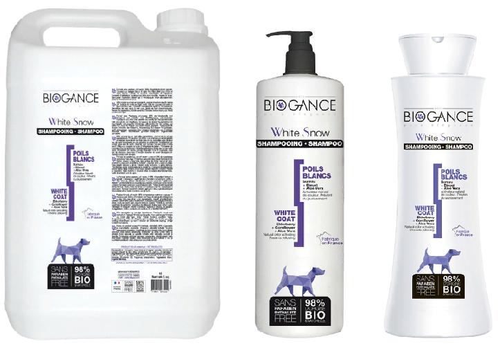 Биоганс Натуральный BIO-шампунь Biogance White Snow для собак светлых окрасов, в ассортименте, Biogance