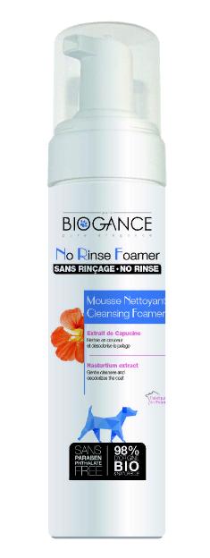 Биоганс Био-пенка очищающая Biogance No Rinse Foamer без смывания, для собак, 200 мл, Biogance