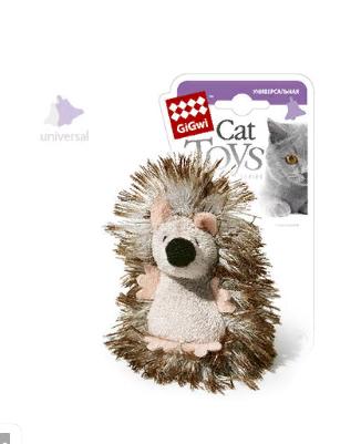 Гигви Игрушка Ёжик с погремушкой для кошек, 7 см, Gigwi