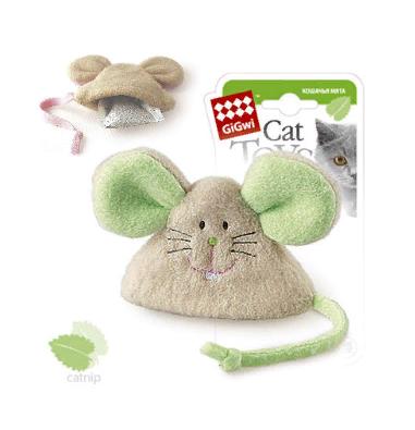 Гигви Игрушка для кошек Мышка с кошачьей мятой, 8 см, Gigwi